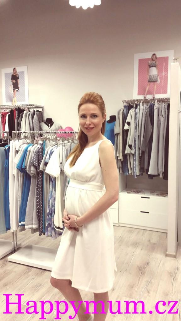 Romana Pavelková finalistka miss 2008 v těhotenském oblečení Happymum