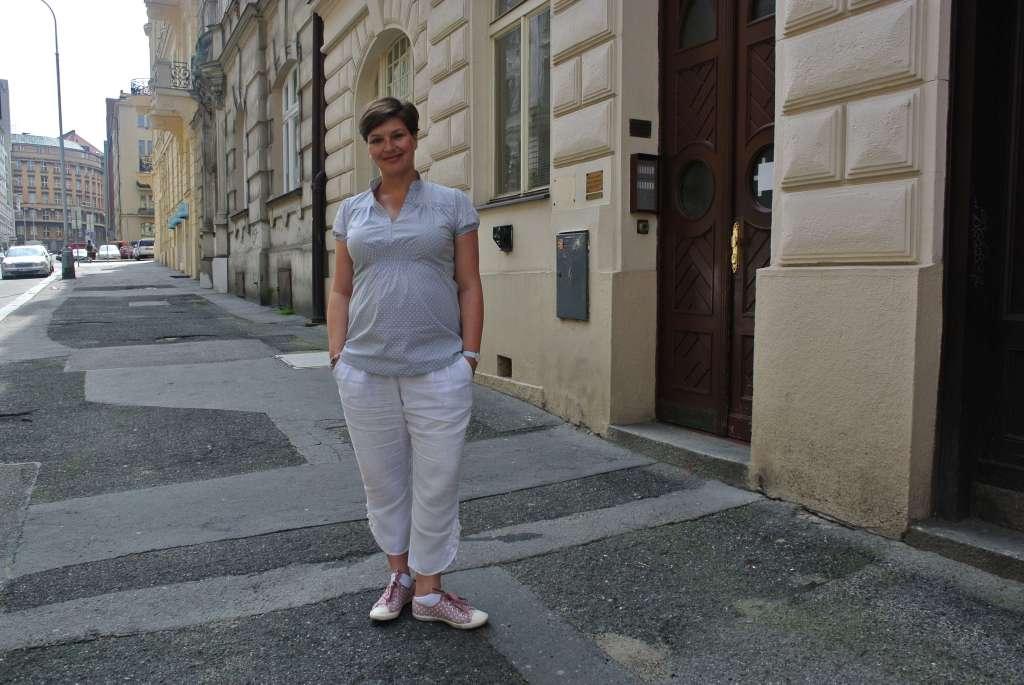 Zuzana Kinclová v těhotenském oblečení Happymum