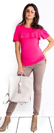 Těhotenská halenka Sisi hot pink top (B1263a) - 1049 Kč · Těhotenské kalhoty  Queen mama trousers (t416) - 1239 Kč 6ff9a583df