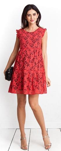 Těhotenské šaty Jessi coral dress (D1001a) - 1339 Kč cbfd279795