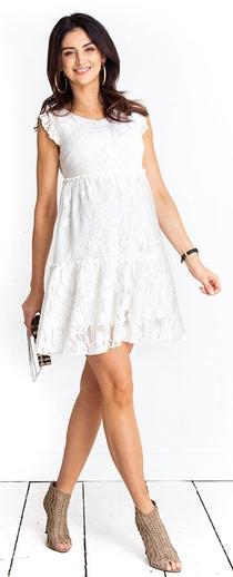 Těhotenské šaty Monique cream dress (D1012a) - 1689 Kč 79d7d087c8
